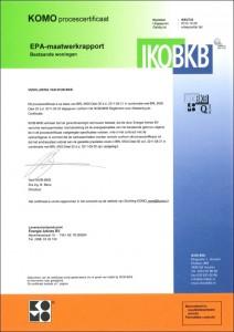 IKOBKB-certificaat (EPA-maatwerkrapport)